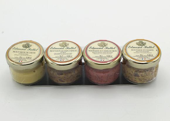 Edmond Fallot Portion Tray Pack of 4 Mustards
