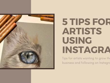 5 Tips for Artists Using Instagram
