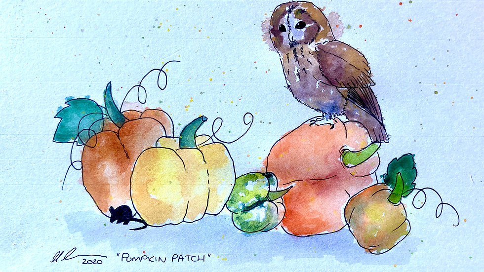 Pumpkin Patch - Limited Edition unmounted print