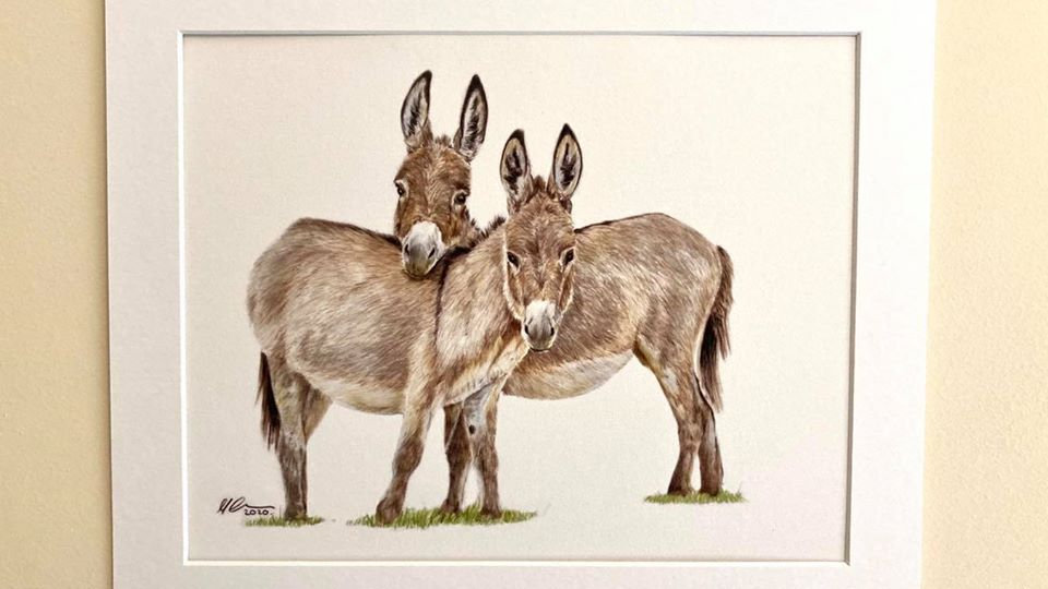Best of Friends - mounted print