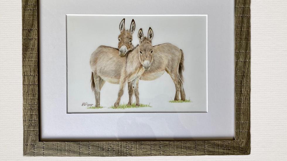 Best of Friends - original framed artwork