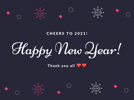 Happy New Year! Big plans for 2021
