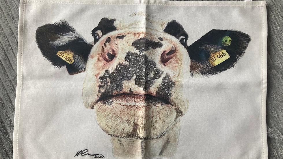 Nosy Cow - tea towel