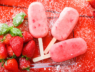 Strawberry Frozen Yogurt Pops