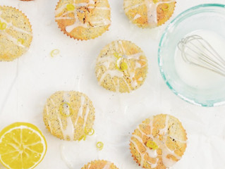 Coconut Lemon and Poppy Seed Muffins