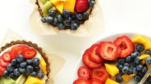 No Bake Lemon Fruit Tarts
