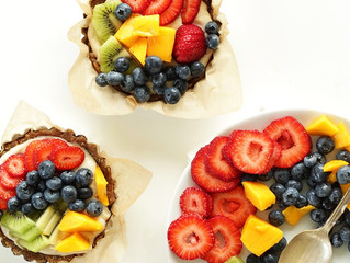 No Bake Lemon Fruit Tarts