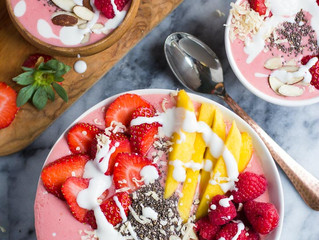 Dairy Free Tropical Berry Bowl