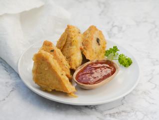 Vegan Stuffed Tofu Puffs