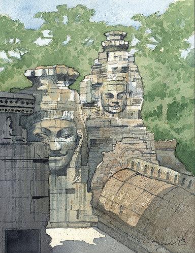 Angkor faces 2