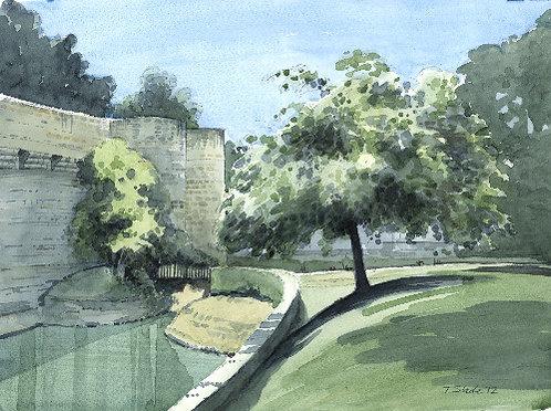 City walls, N. France