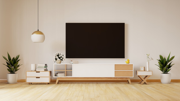 smart-tv-white-wall-living-room-minimal-