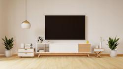 smart-tv-white-wall-living-room-minimal-