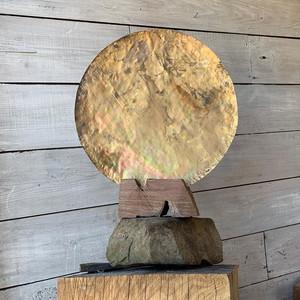 OM Brass Sculpture