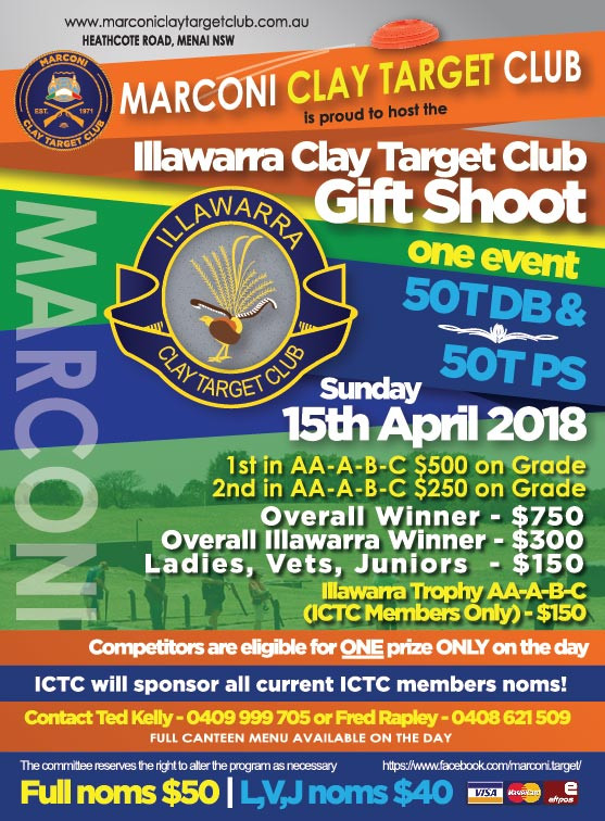 Illawarra Gift Shoot at Marconi Clay Target Club