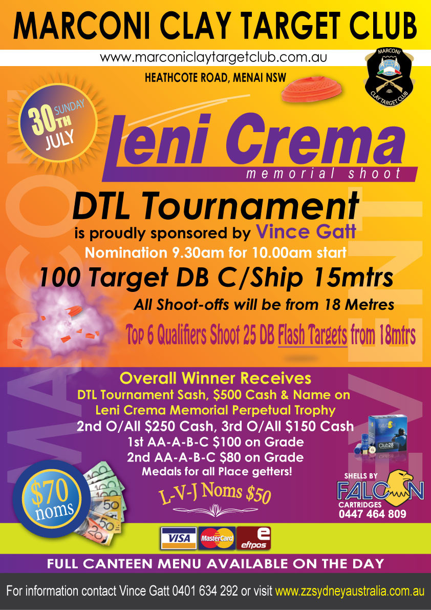 Leni Crema Memorial Clay Target DTL Tournament