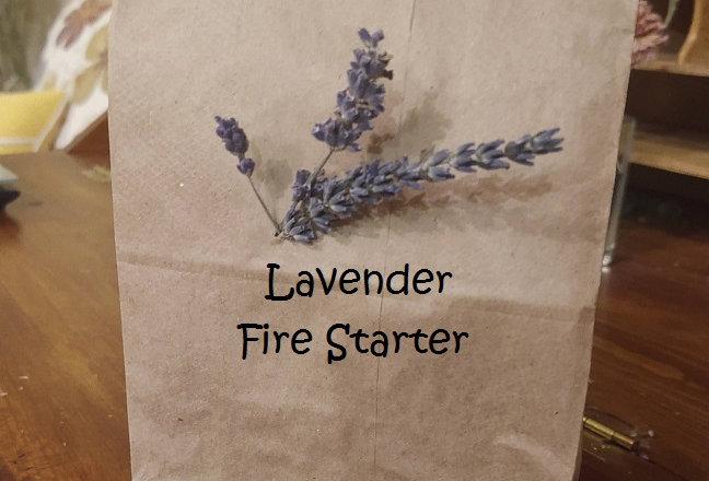 Lavender Fire Starter