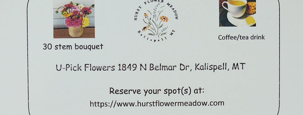 Gift Certificate for U-Pick Flowers