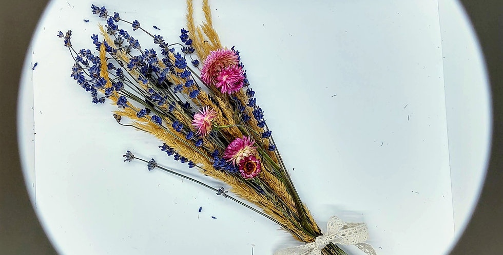 Bouquet of Lavender and strawflower