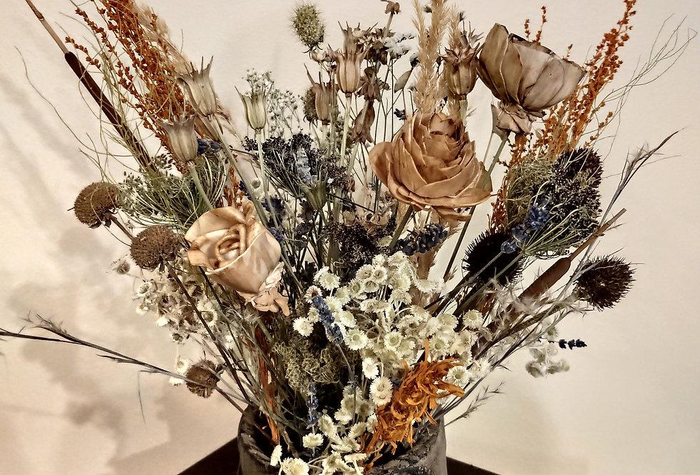 Nature's best in earthy vase.
