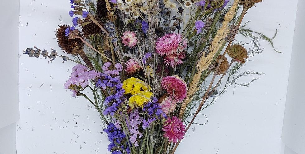 Colorful dry flower bouquet