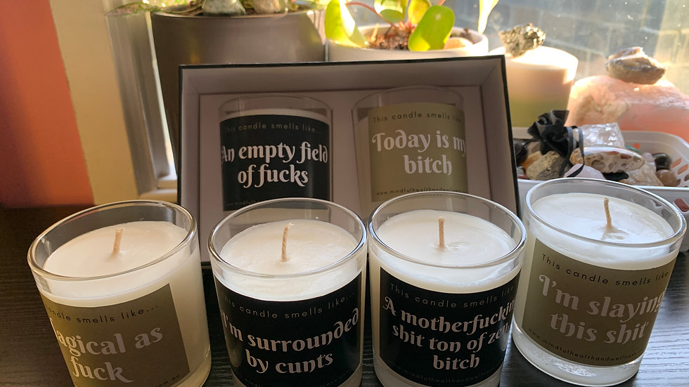 Naughty or Nice Soy Candle - LARGE