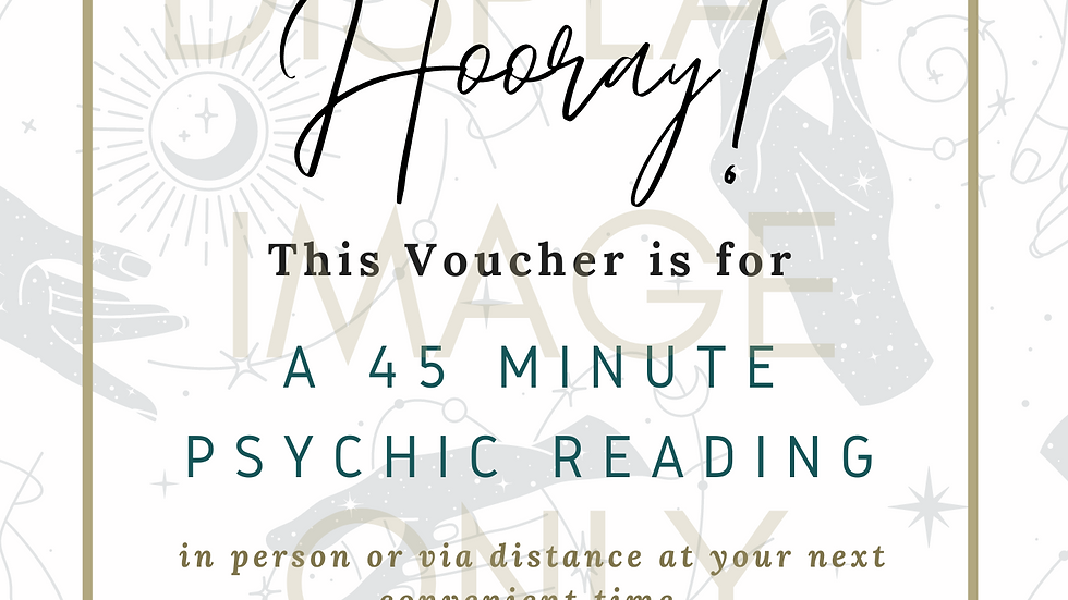 Gift Voucher (Printable) - 45 Minute Psychic Reading