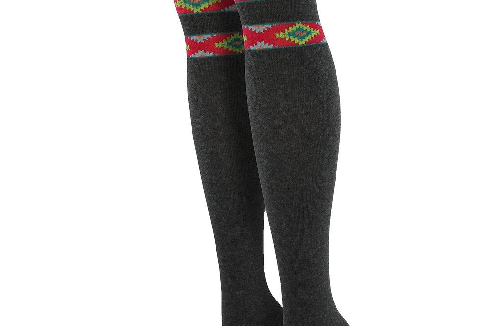 Aztec Bands Over the Knee Socks