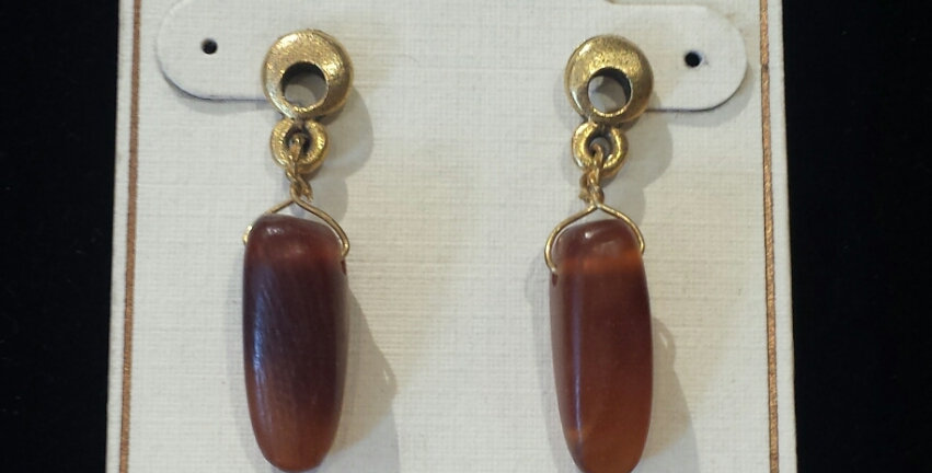 LONNIE LOVNESS HONEY EARRINGS