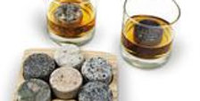 Sea Stones - On The Rocks-Whiskey Chilling Stones with Hardwood Tray & Tumblers
