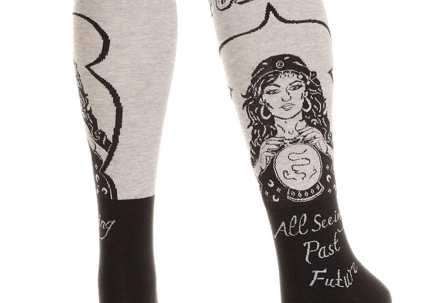 Fortune Teller Knee High Socks Heather Gray