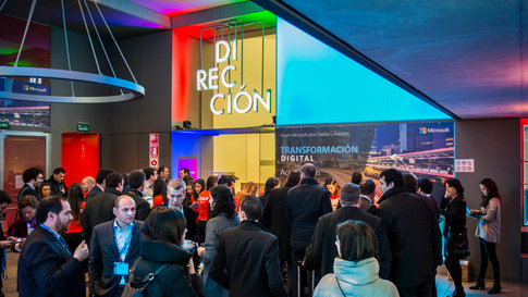 Entrega de premios a los socios de Macrisoft, evento realizado en las instalaciones del Matadero de Madrid
