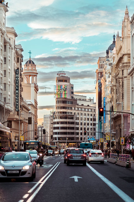 Calle Gran Via, Madrid