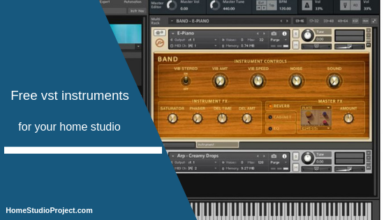 free vst instruments,homestudioproject,midi recording