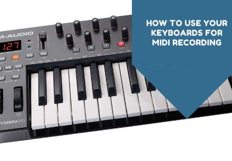 How to connect your midi keyboard or any keyboard to record