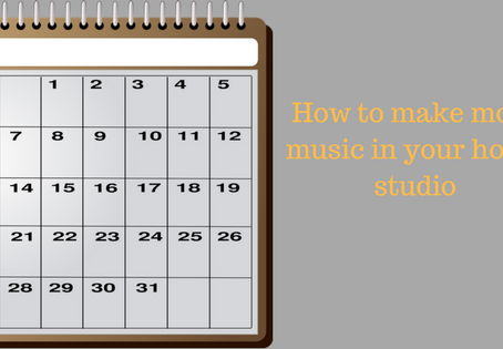 How to make more music this year in your home studio