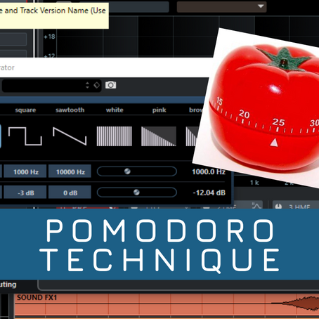 Pomodoro technique in your home studio