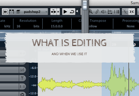 What is editing and when we can use it