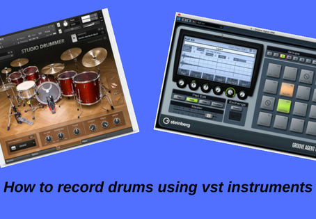 How to record drums using vst instruments