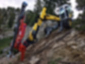 All Mountain Construction- Spider excavator with Wimmer Drill