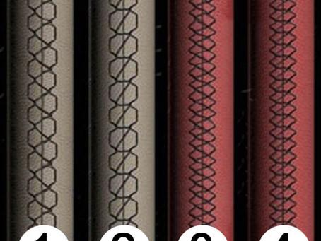 Виды швов для перетяжки руля