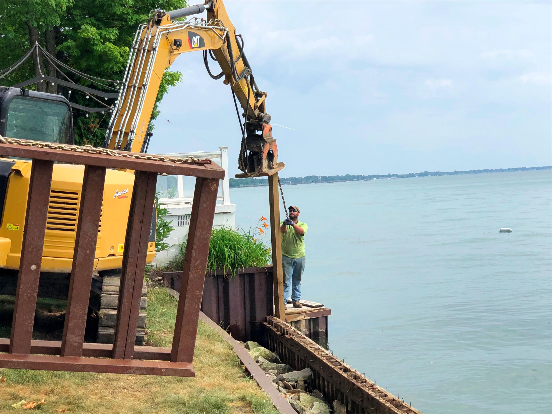 Sea Wall Installation