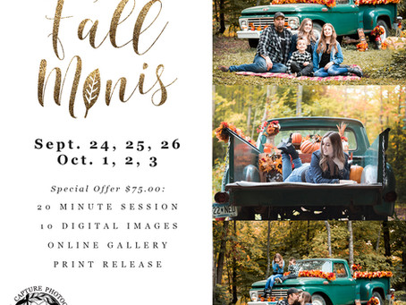 Now Booking Fall Minis!