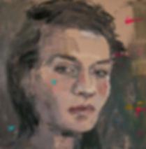 Self Portrait Confetti 60 x 60 cm Oil on