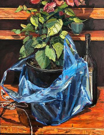 Just Home, oil on linen, framed, 69 x 53