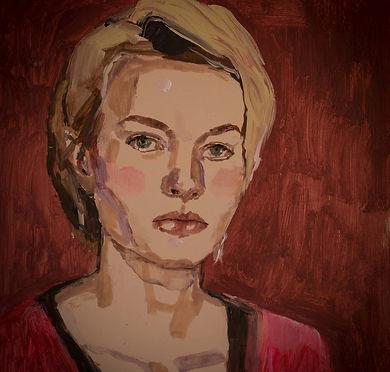 Self Portrait 2017 50 x 45 cm Acrylic on