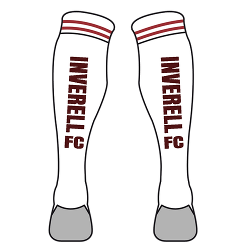 White Inverell FC Socks
