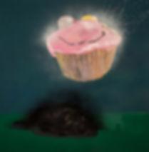 Smiley Cake 100 x 100 cm Acrylic on Boar
