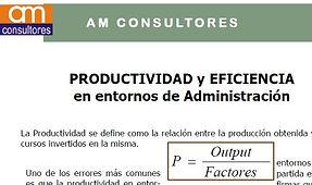 Productividad y Eficiencia en entornos de adminstración