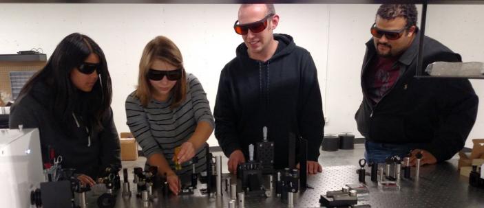 Hannah Tayler Sean Dave laser lab